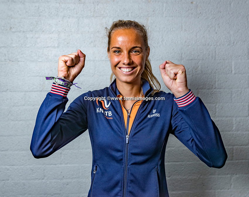 Den Bosch, The Netherlands, Februari 8, 2019,  Maaspoort , FedCup  Netherlands - Canada, Draw, Arantxa Rus  (NED)<br /> Photo: Tennisimages/Henk Koster