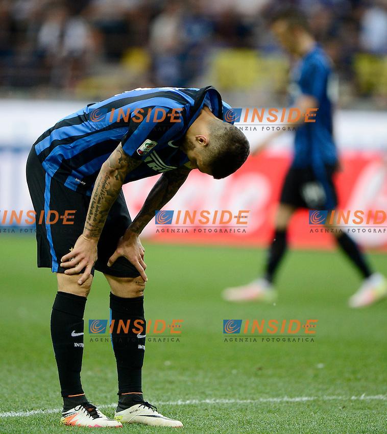 Infortunio muscolare per Mauro Icardi Inter<br /> Milano 7-05-2016 Stadio Giuseppe Meazza - Football Calcio Serie A Inter - Empoli. Foto Giuseppe Celeste / Insidefoto