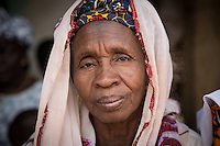 Elderly Fulani woman at the weekly market in Dindifelo, Senegal