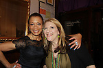 """Comedian Lisa Lampanelli poses with One Life To Live's Valarie Pettiford """"Sheila Price"""" and Another World as they both performed as a part of Jamie deRoy & friends on March 18, 2012 at Metropolitan Room, New York City, New York. Also appearing was Lisa Lampanelli (Celebrity Apprentice) and attending the evening was Tony LoBianco (Love of Life).  (Photo by Sue Coflin/Max Photos)"""