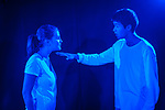 Sky Yang as Padraic and Heloise Spring as Gloria in Luiza Minghella's drama, 'All My Life Long'. 24 Aug 2017. Edinburgh. Credit: Photo by Tina Norris. Copyright photograph by Tina Norris. Not to be archived and reproduced without prior permission and payment. Contact Tina on 07775 593 830 info@tinanorris.co.uk  <br /> www.tinanorris.co.uk