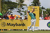 Bernd Wiesberger (AUT) in action on the 3rd tee during Round 1 of the Maybank Championship at the Saujana Golf and Country Club in Kuala Lumpur on Thursday 1st February 2018.<br /> Picture:  Thos Caffrey / www.golffile.ie<br /> <br /> All photo usage must carry mandatory copyright credit (© Golffile | Thos Caffrey)