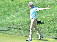 Bethesda, MD - July 1, 2018: Zac Blair reacts to missing a putt on the 17th hole during final round of professional play at the Quicken Loans National Tournament at TPC Potomac at Avenel Farm in Bethesda, MD.  (Photo by Phillip Peters/Media Images International)