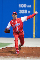24 September 2009: Maikel Folch of Cuba is seen in the bullpen prior to the 2009 Baseball World Cup final round match won 5-3 by Team USA over Cuba, in Nettuno, Italy.
