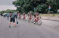 Greg Van Avermaet (BEL/BMC) puts his team the work in the race finale<br /> <br /> 2017 National Championships Belgium - Elite Men - Road Race (NC)<br /> 1 Day Race: Antwerpen &gt; Antwerpen (233km)