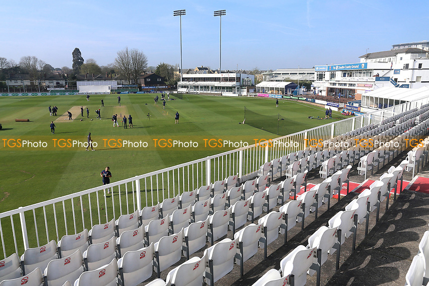 General view of the ground during Essex CCC vs Durham MCCU, English MCC University Match Cricket at The Cloudfm County Ground on 3rd April 2017