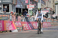Adam Yates (GBR/Orica-Scott) losing his Maglia Bianca / best young rider on teh very last stage in the time trial to Bob Jungles<br /> <br /> stage 21: Monza - Milano (29km)<br /> 100th Giro d'Italia 2017