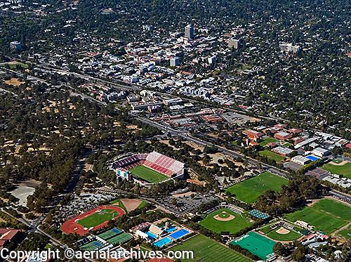 aerial photograph Stanford, Palo Alto, San Clara county, California