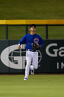 AZL Cubs 1 left fielder Carlos Pacheco (29) prepares to catch a fly ball during an Arizona League game against the AZL Athletics Gold at Sloan Park on June 20, 2019 in Mesa, Arizona. AZL Athletics Gold defeated AZL Cubs 1 21-3. (Zachary Lucy/Four Seam Images)