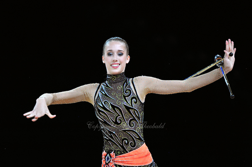 September 21, 2011; Montpellier, France;  SHELBY KISIEL of USA performs with clubs at 2011 World Championships.