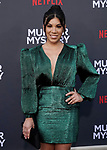 "Chrissie Fit 023 arrives at the LA Premiere Of Netflix's ""Murder Mystery"" at Regency Village Theatre on June 10, 2019 in Westwood, California"