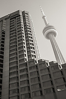 A view of the CN Tower, Toronto, Ontario.
