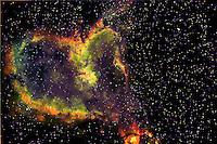 heart nebula, narrowband astrophotography, ic 1805
