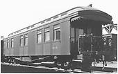 Business car B-3 (2nd) at Alamosa, CO.<br /> D&amp;RGW  Alamosa, CO  Taken by Ward, Bert H. - 7/10/1946
