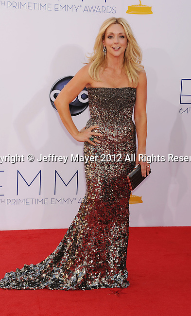 LOS ANGELES, CA - SEPTEMBER 23: Jane Krakowski arrives at the 64th Primetime Emmy Awards at Nokia Theatre L.A. Live on September 23, 2012 in Los Angeles, California.