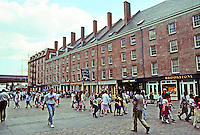 New York: South Street Seaport, Historic District. Peter Schermerhorn's 600 ft. extension, 1812. Restored 1983. Photo '91.