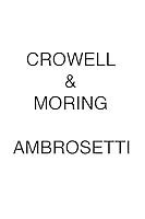 Crowell & Moring AMBROSETTI