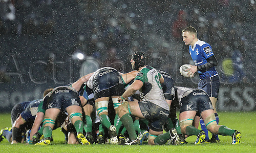 01.01.2016. RDS Arena, Dublin, Ireland. Guinness Pro 12 Leinster versus Connacht. Sean O'Brien of Leinster makes his debut at the RDS.
