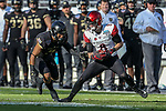 San Diego State Aztecs wide receiver Quest Truxton (8) in action during the Armed Forces Bowl game between the San Diego State Aztecs and the Army Black Knights at the Amon G. Carter Stadium in Fort Worth, Texas.