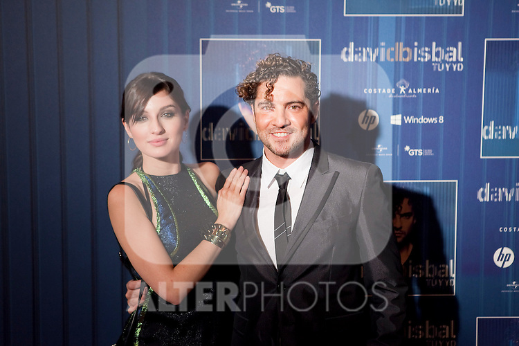 Spanish singer David Bisbal and actress Maria Valverde attend David Bisbal´s new music album premiere photocall at Callao cinema in Madrid, Spain. March 17, 2014. (ALTERPHOTOS/Victor Blanco)