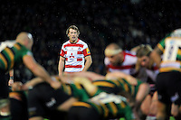 Billy Twelvetrees of Gloucester Rugby watches a scrum. Aviva Premiership match, between Northampton Saints and Gloucester Rugby on November 27, 2015 at Franklin's Gardens in Northampton, England. Photo by: Patrick Khachfe / JMP