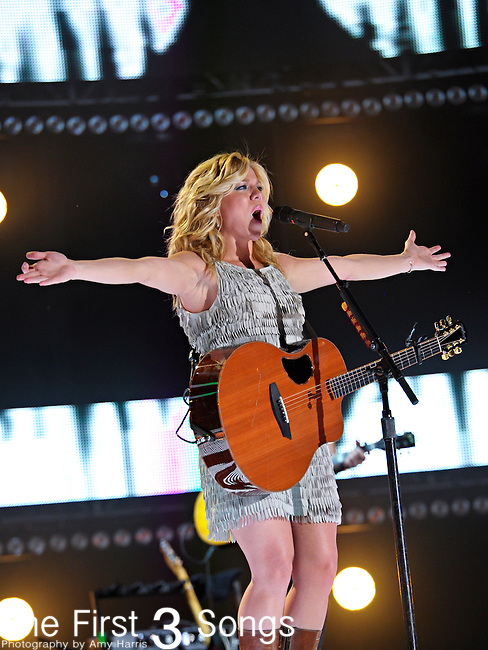 Kimberly Perry of The Band Perry performs at LP Field during the 2012 CMA Music Festival on June 08, 2012 in Nashville, Tennessee.