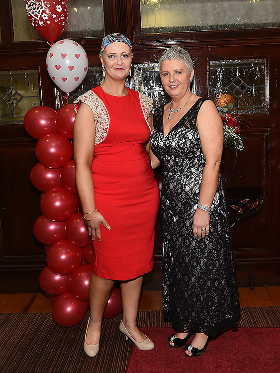 Carol Loughran and Sandra McGrory pictured at the Valentine Ball in the Grove House Dunleer. Photo:Colin Bell/pressphotos.ie
