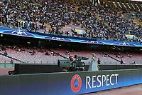 Striscione della Champions, banner Respect <br /> Napoli 16-08-2017 Stadio San Paolo <br /> Napoli - Nice <br /> Uefa Champions League 2017/2018 Play Off <br /> Foto Cesare Purini Insidefoto