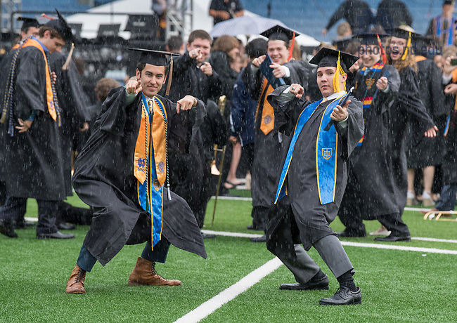 May 20, 2018; Commencement 2018.  (Photo by Barbara Johnston/University of Notre Dame)