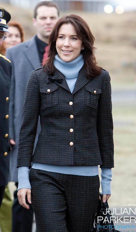 Crown Prince Frederick and Crown Princess Mary of Denmark on a four day official visit to Iceland,visit a local Primary school in Stykkisholms