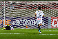 BELO HORIZONTE, MG, 07 JUNHO 2013 - CAMPEONATO BRASILEIRO - ATLÉTICO MG X CRICIUMA - Rosinei, jogador do Atlético Mineiro cai após encaminar a bola para o primeiro gol do Atlético em partida contra o Criciuma, jogo válido pela06º rodada doCampeonato brasileiro 2013, no estádio Independencia em Belo Horizonte, na tarde deste Domingo, 07. (FOTO: NEREU JR / BRAZIL PHOTO PRESS).