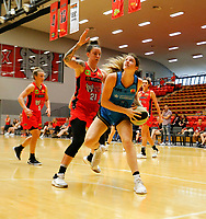 29th December 2019; Bendat Basketball Centre, Perth, Western Australia, Australia; Womens National Basketball League Australia, Perth Lynx versus Canberra Capitals; Keely Froling of the Canberra Capitals looks to lay up at the basket against Marina Whittle of the Perth Lynx - Editorial Use