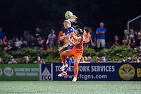 Allston, MA - Wednesday Aug. 31, 2016: Kristie Mewis, Andressa Machry during a regular season National Women's Soccer League (NWSL) match between the Boston Breakers and the Houston Dash at Jordan Field.