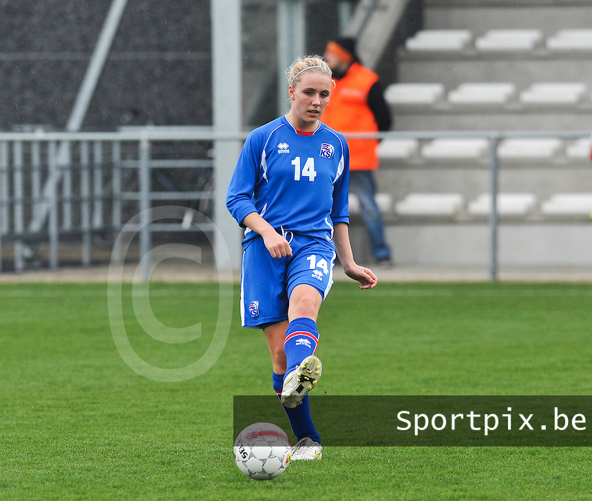 UEFA Women's Under 17 Championship - Second Qualifying round - group 1 : England - Iceland : .Gudrun Arnardottir.foto DAVID CATRY / Vrouwenteam.be