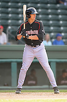 Outfielder Trayce Thompson (24) of the Kannapolis Intimidators, Class A affiliate of the Chicago White Sox, in a game against the Greenville Drive on May 27, 2011, at Fluor Field at the West End in Greenville, S.C. Photo by Tom Priddy / Four Seam Images