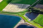 Nederland, Zeeland, Gemeente Sas van Gent, 09-05-2013; Braakmanpolder, spaarbekkens voor drinkwater (ten Noorden van Philippine).<br /> Reservoirs for drinking water in the polder in Zeeuws-Vlaanderen,  the south-west part of the province of Zeeland.<br /> luchtfoto (toeslag op standard tarieven);<br /> aerial photo (additional fee required);<br /> copyright foto/photo Siebe Swart.