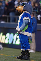 Dec 24, 2011:  Seattle's mascott Blitz watches the game against San Francisco at Century Link Stadium in Seattle WA.  San Francisco defeated Seattle 19-17.