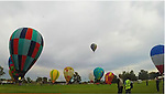 Early morning take-off during the 2015 Balloon Challenge in Canowindra, NSW, Australia. Shot using the GoPro Hero 3+ Black Edition and edited using GoPro Studio.<br />