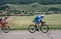 Philippe Gilbert (BEL/Quick Step floors) trying to force a breakaway<br /> <br /> Stage 5: Gstaad &gt; Leukerbad (155km)<br /> 82nd Tour de Suisse 2018 (2.UWT)