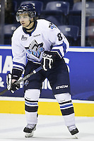 QMJHL (LHJMQ) hockey profile photo on Rimouski Oceanic Simon Fortier October 6, 2012 at the Colisee Pepsi in Quebec city.