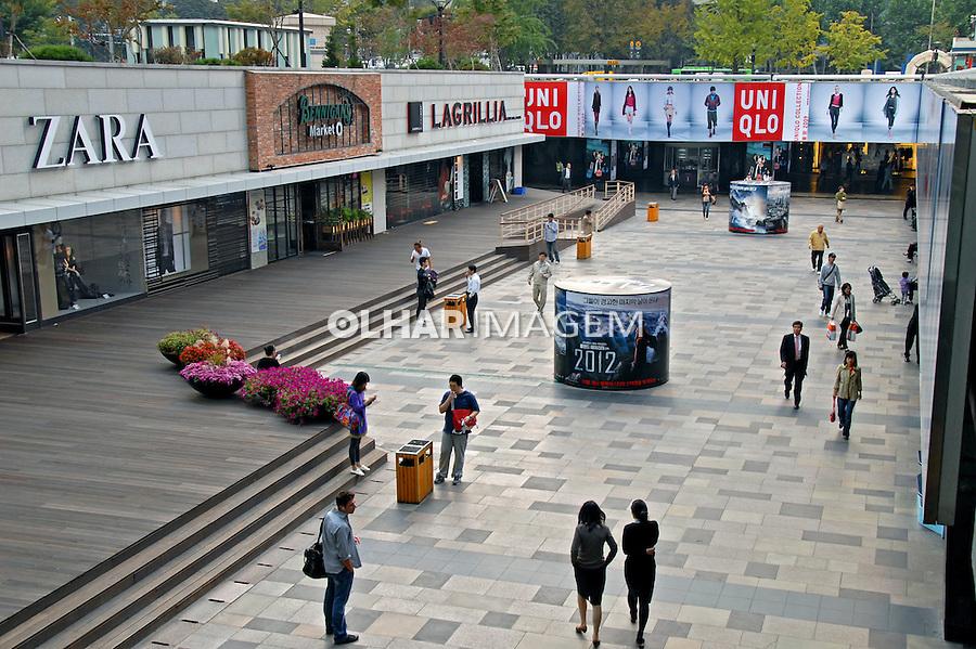 Lojas do Coex Shopping em Seul. Coréia do Sul. 2009. Foto de Thaïs Falcão.