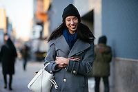 Lily Kwong attends Day 4 of New York Fashion Week on Feb 15, 2015 (Photo by Hunter Abrams/Guest of a Guest)