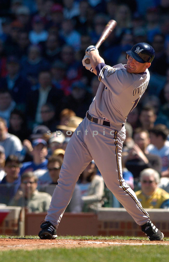 Lyle Overbay during the Milwaukee Brewers v. Chicago Cubs game on April 8, 2005...Brewers win 6-3..David Durochik / SportPics