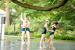 RIOULT modern dancers perform in the sculpture garden at Kykuit, the Rockefeller Estate, Pocantico Hills, New York