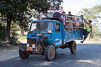 Myanmar, Burma. Local Transport on Road near Bagan.