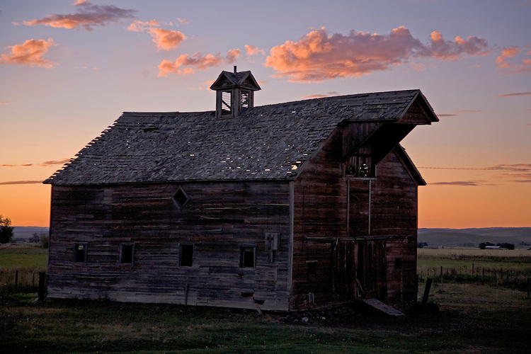 Wallowa County, Oregon- a mountain valley filled with rustic barns and farmland