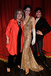 "On stage Maggie Mancinelli-Cahill (director, producing artistic director) poses with As The World Turns' Kelsey Crouch, (daughter of) & Colleen Zenk stars in ""Gypsy"" as Louise to become Gypsy Rose Lee on March 15, 2014 at Capital Repertory Theatre, Albany, New York. Colleen came to many shows at the beginning and it continues til April 13. (Photo by Sue Coflin/Max Photos)"