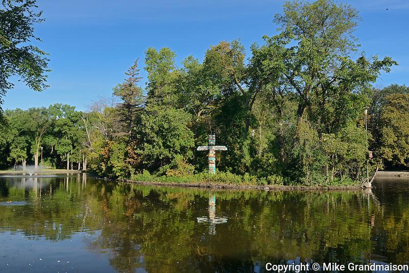 Pond in St. Vital Park<br /> Winnipeg<br /> Manitoba<br /> Canada