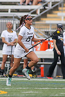 Towson, MD - March 25, 2017: Towson Tigers Maddie Tribbe (15) in action during game between Towson and Oregon at  Minnegan Field at Johnny Unitas Stadium  in Towson, MD. March 25, 2017.  (Photo by Elliott Brown/Media Images International)