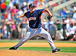 14 March 2009: Boston Red Sox' pitcher Steve Green on the mound during a Spring Training game against the Baltimore Orioles at Fort Lauderdale Stadium in Fort Lauderdale, Florida. The Orioles defeated the Red Sox 9-8 in the Grapefruit League matchup. Mandatory Photo Credit: Ed Wolfstein Photo